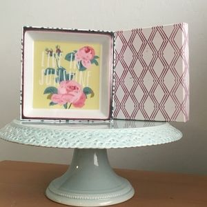 Pink Floral Trinket Dish New Sealed in Box